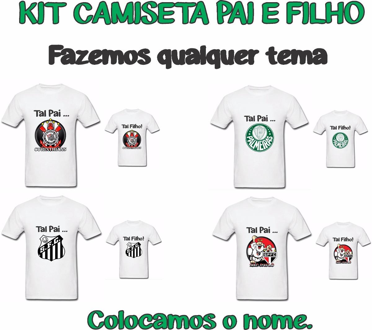 1dc439f84b kit camiseta personalizada tal pai tal filho times futebol. Carregando zoom.