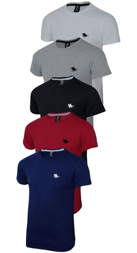 kit camiseta polo rg518 lisa original polo rg518