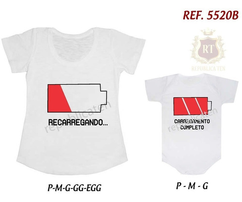 kit camiseta t-shirt + body tal mãe tal filha(o) loading...