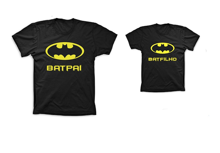 fd4588b5368dcb Kit Camiseta Tal Pai Tal Filho Batman 4 Peças