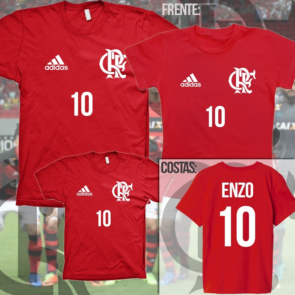 bcb58d2293 Kit Camiseta Tal Pai Tal Filho(a) Flamengo Com Nome - C  2un - R  86 ...