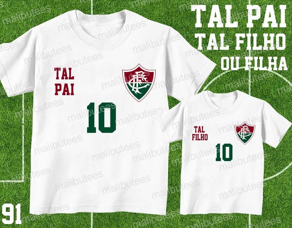 b862598cc395a kit camiseta time futebol tal pai tal filho fluminense 91. Carregando zoom.