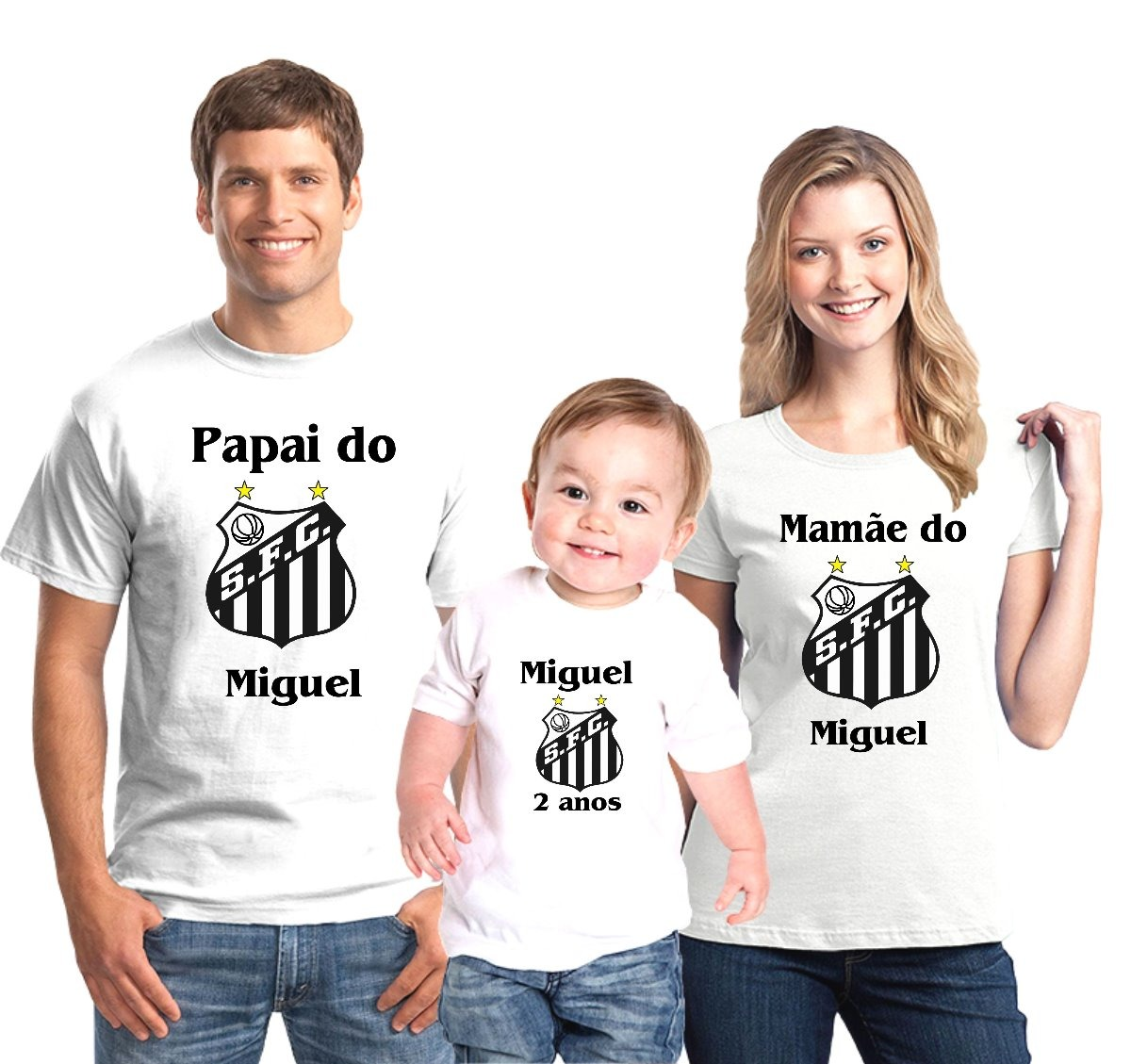 d03ac40b3fe4c kit camisetas aniversário santos time personalizada c 5. Carregando zoom.