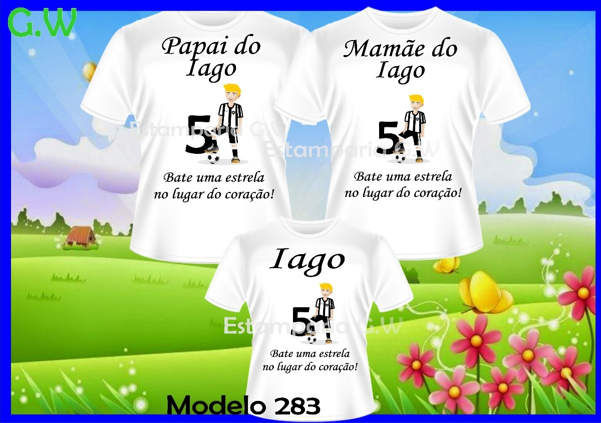 f9d402a786 kit camisetas aniversario time c 3 personalizadas futebol. Carregando zoom.