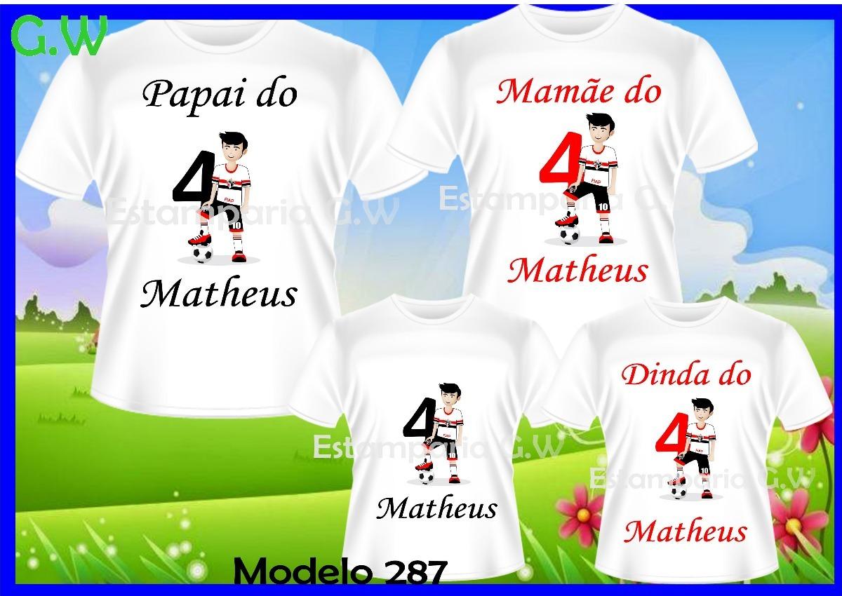16ecfdee7b kit camisetas aniversario time c 4 personalizadas futebol. Carregando zoom.