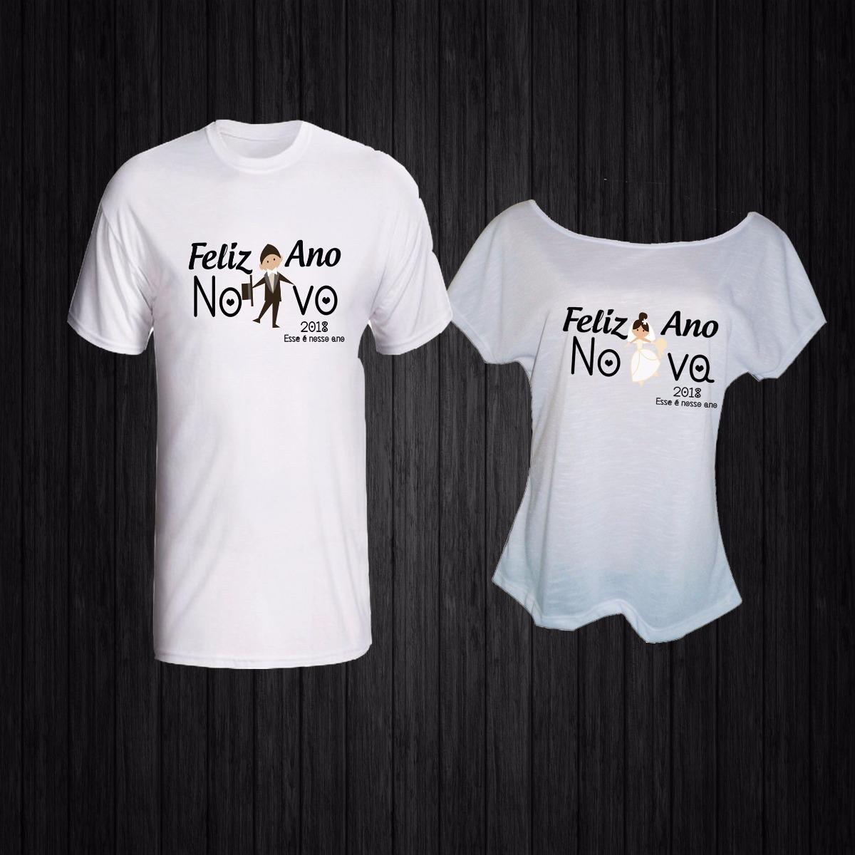 kit camisetas casal-feliz ano novo noiva noivo. Carregando zoom. a602a44d391