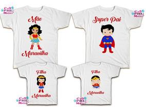 613da1a7cd1c74 Kit Camisetas Familia Tal Pai Mae Filho Filha Personalizadas