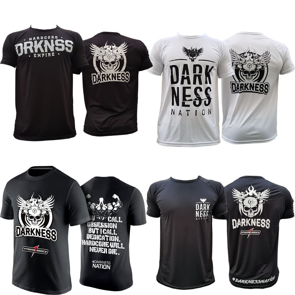 kit camisetas integralmedica darkness nation empire branca. Carregando zoom. 0910f58ace4d5