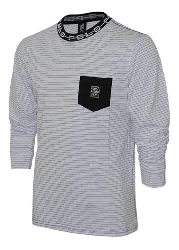 kit camisetas manga longa em malha