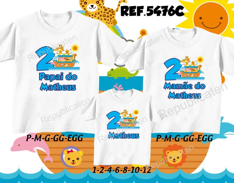 Camisetas Personalizadas Kit 2 Peças No Elo7 Forninho Da ce6f930168837