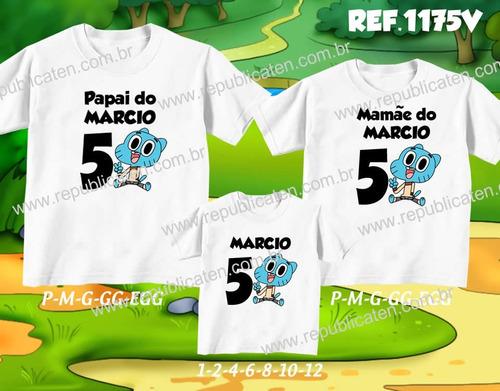 kit camisetas personalizadas aniversario cachorrinho doki