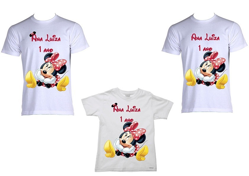 c95f03050 kit camisetas personalizadas minnie. Carregando zoom.