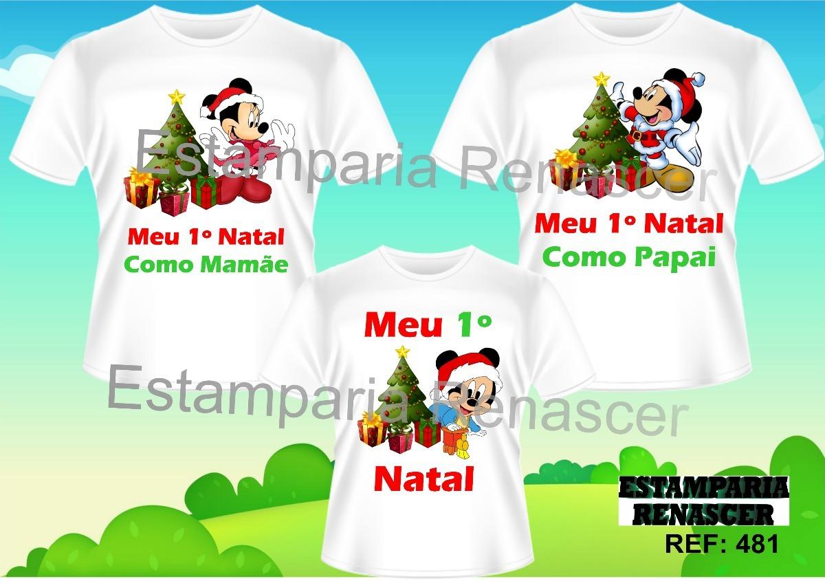 5e06aa93316a kit camisetas personalizadas natal em familia mickey c3. Carregando zoom.