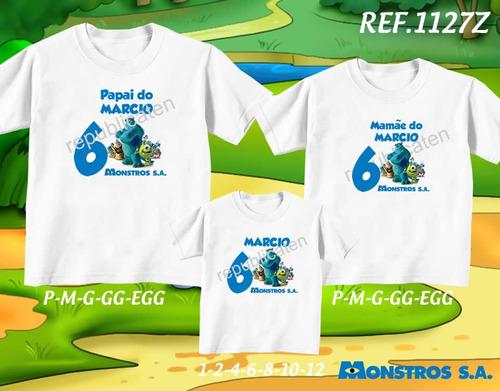 kit camisetas personalizadas tema de aniversário diego go
