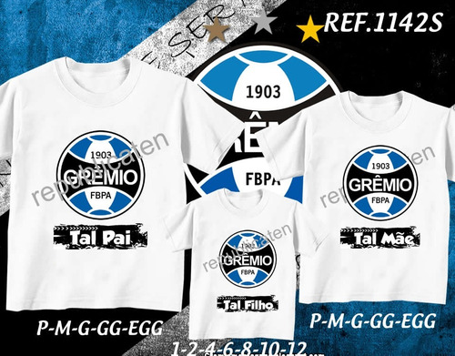 Camiseta Tal Mae E Tal Filho Tal Pai Time Gremio R 56 49376c759410d