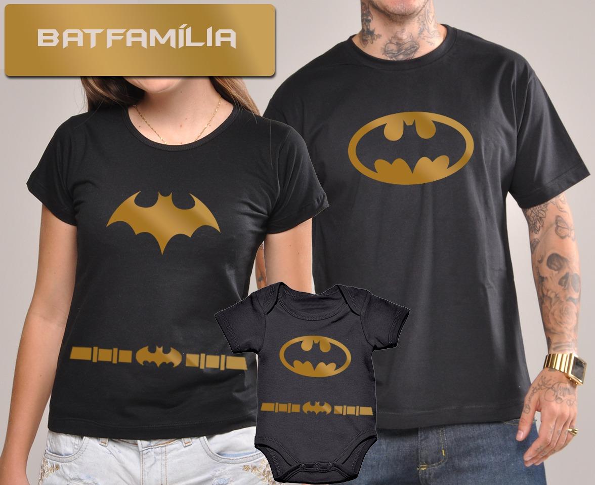 kit camisetas tal pai tal filho batman batgirl dourado c  3u. Carregando  zoom. 73fc623912a