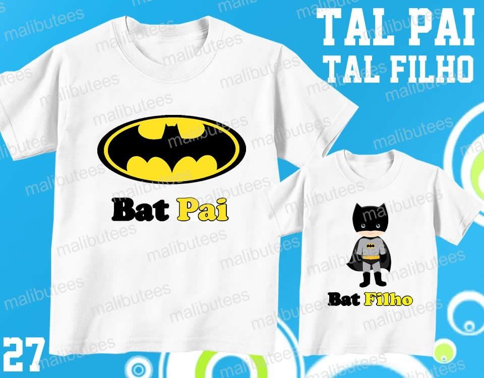 cff516264cb2b8 Kit Camisetas Tal Pai Tal Filho Batman Cute Bat Pai - 27