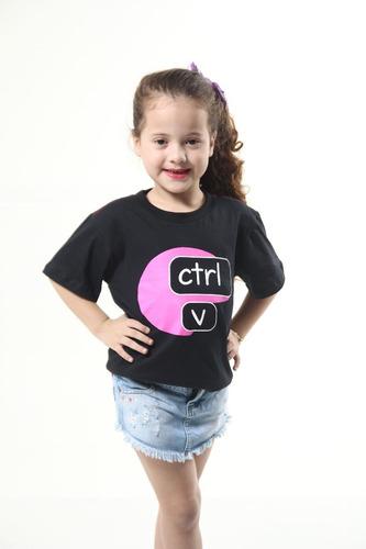 kit camisetas tal pai tal filho ctrl c