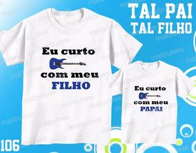 d1f5177ec324 Camiseta Pai Filho Rock - Camisetas Masculinas Curta com o Melhores Preços  no Mercado Livre Brasil