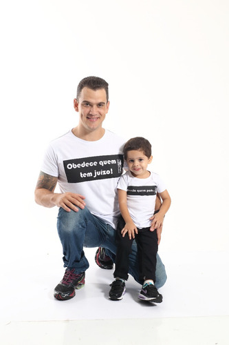 kit camisetas tal pai tal filho long - manda quem pode