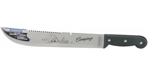 kit camping facão inox tramontina + machadinha sparta