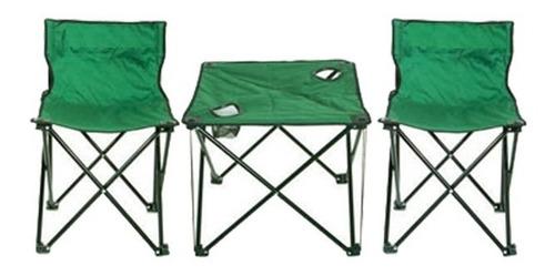 kit camping pesca 2 cadeiras e mesa petisqueira porta lata