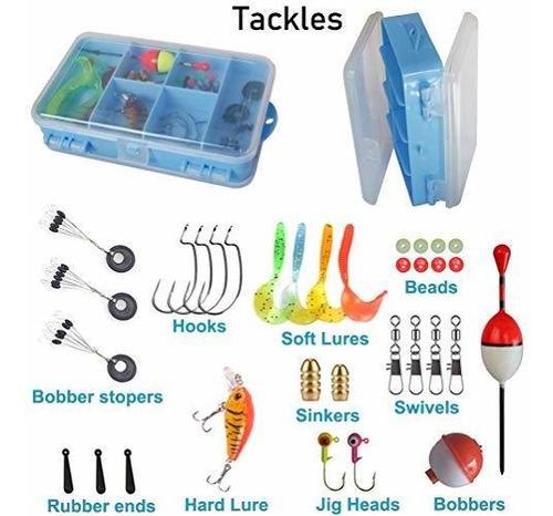 kit caña carrete para niño divertido equipo pesca