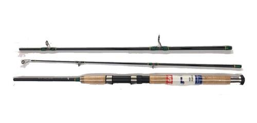 kit caña de pescar rio puelo 1.80m carrete ceymar 55 señuelo