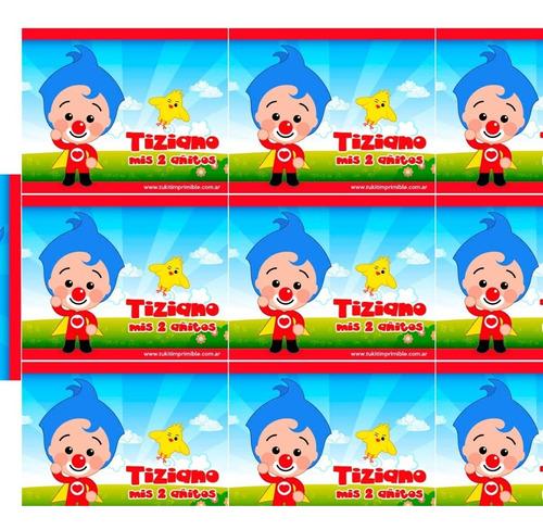 kit candy bar plim plim stickers para golosinas impreso!