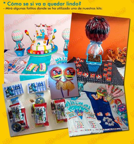 kit candybar imprimible boca juniors - no edites más!!