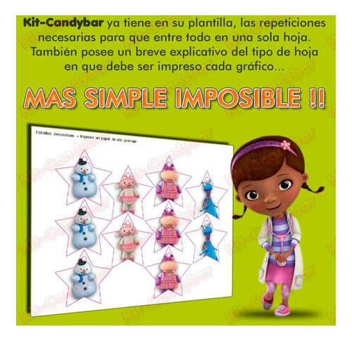 kit candybar imprimible dra. juguetes - no edites más!!