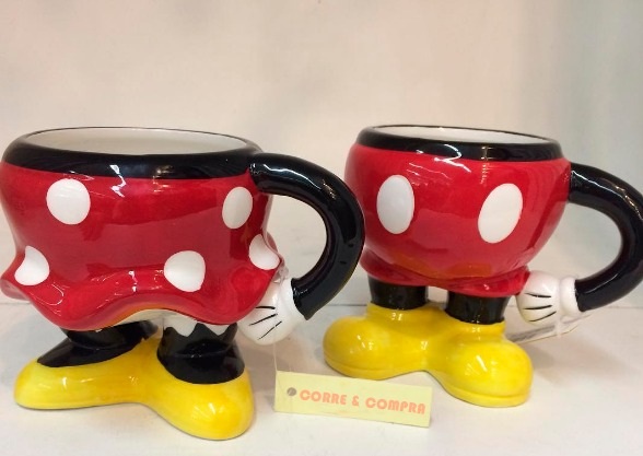 cf38f534484204 Kit Caneca Disney Mickey E Minnie Porcelana - Licenciado
