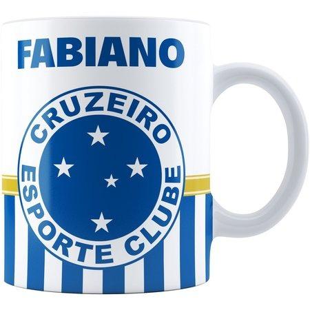 Kit Caneca + Prato Porcelana Personalizado Do Cruzeiro - R  53 19087094fa705