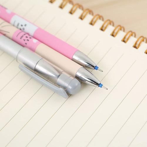 kit caneta esferográfica gel dots kawai bolinhas apagável 3u