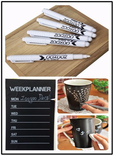 kit caneta giz liquido + 2 cartelas adesivo lousa decorativo