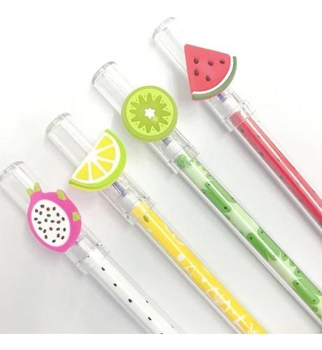 kit canetas gel coleção sortida esferográfica mix kawaii