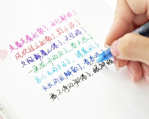 kit canetas gel líquido ponta fina sortidas coloridas