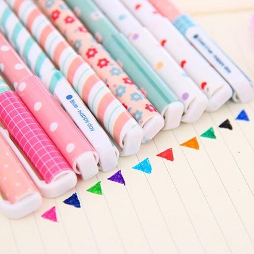 kit canetas gel sortidas coloridas kawaii modelo 1