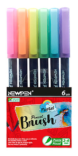 kit canetas pastel: fineliner + marca texto + brush pen - ne