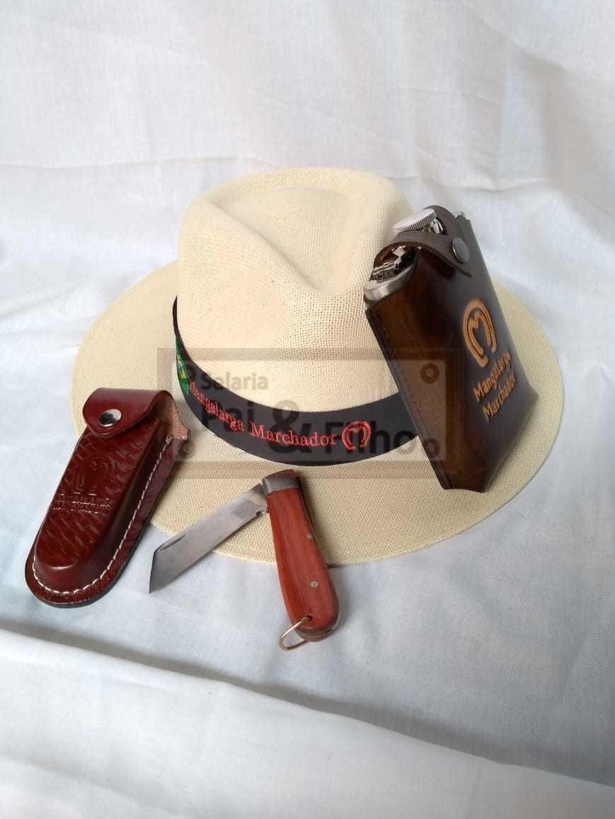 kit canivete country capinhas cantil top + chapeu mangalarga. Carregando  zoom. b3f42a3b0b0