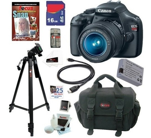 kit canon eos rebel t3 12.2 mp + ef-s 18-55mm + accesorios