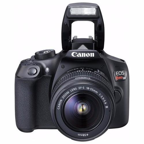 kit canon t6 c\18-55+75-300mm+bolsa revenda autorizada canon