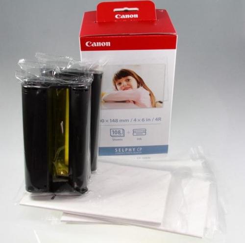 kit canon tinta kp 108 + papel fotográfico