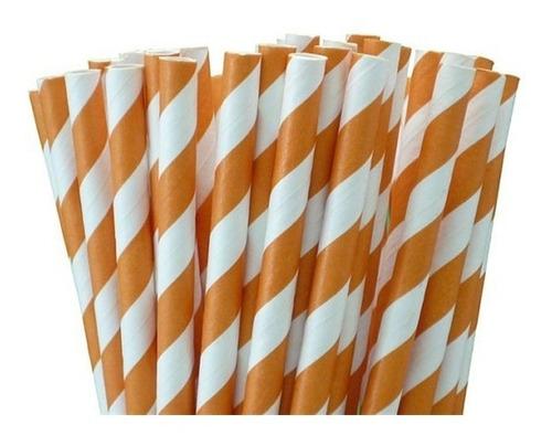 kit canudos de papel canudo vintage canudinhos 100 unidades