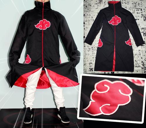 kit capa akatsuki + bandana + colar - naruto cosplay manto