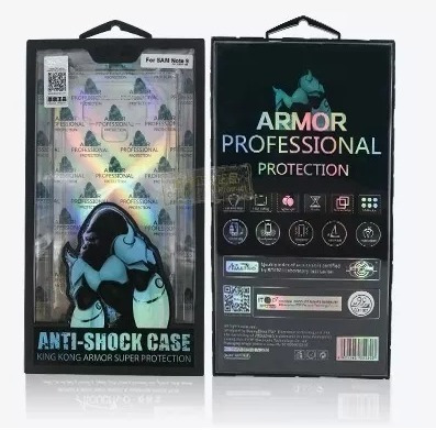 kit capa anti-shock note 9 e película frontal verso e camera