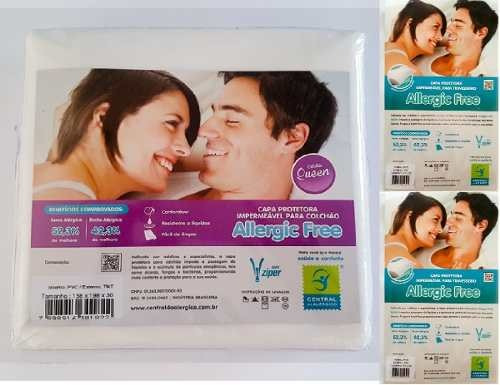 kit capa antiácaro colchão queen  +2 fronhas tnt/ pvc grátis