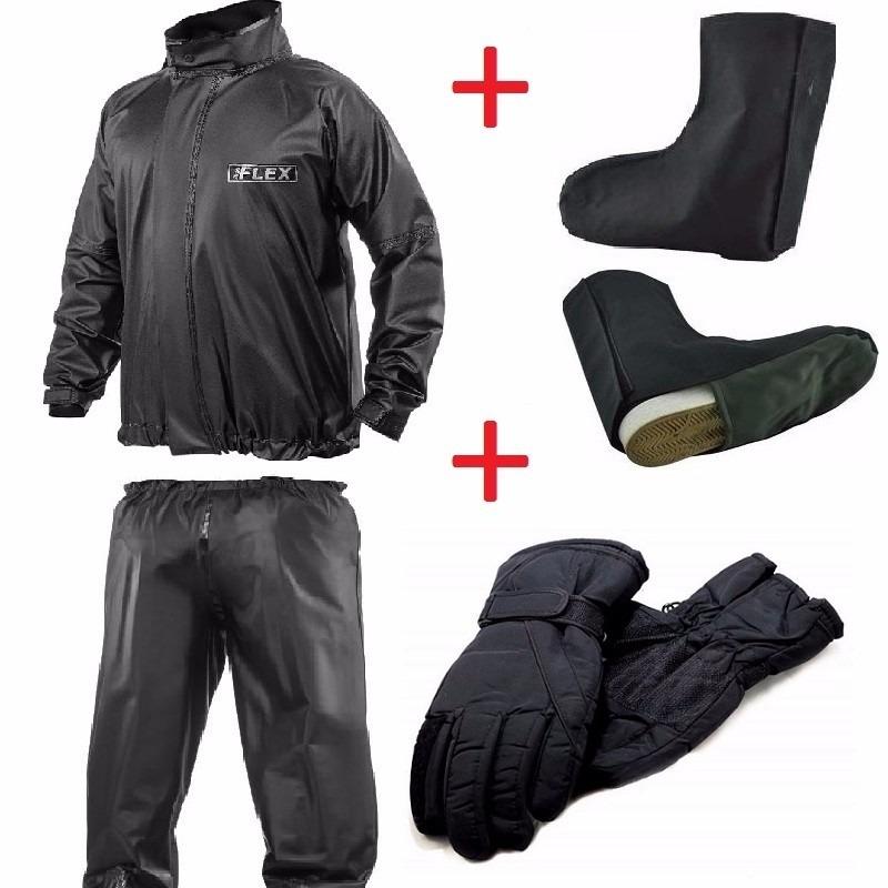 3f807c9ae57 kit capa chuva + luva impermeável + polainas moto motoqueiro. Carregando  zoom.