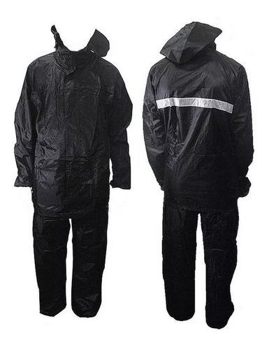 kit capa chuva motoqueiro pvc e pol luxo com mochila