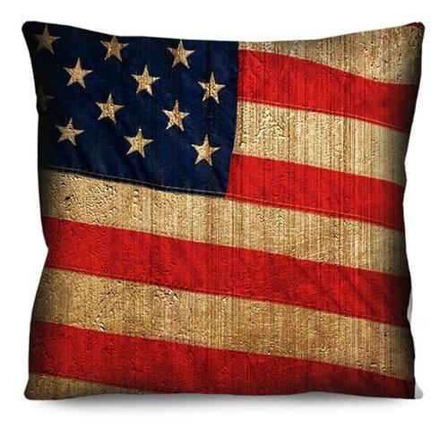 kit capa de almofada bandeira inglaterra estados unidos 42cm
